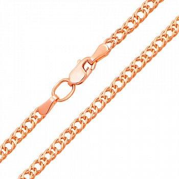 Ланцюг з червоного золота з алмазною гранню 000128093