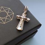 Золотой крестик с фианитами Крещенский