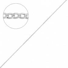 Серебряная цепочка Дантин в плетении гурме с родием, 1мм