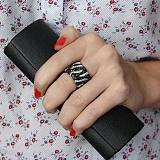 Серебряное кольцо с фианитами Ребекка