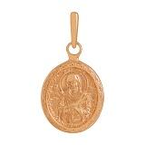 Золотая ладанка Богородица Семистрельная