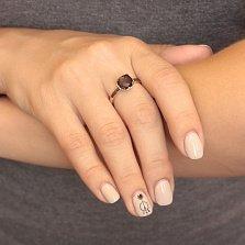 Золотое кольцо Аделаида с гранатом и фианитами