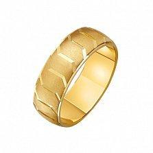 Золотое обручальное кольцо Образ с наческой
