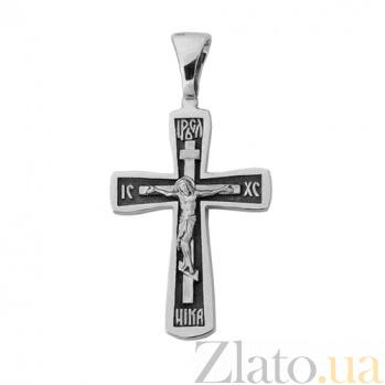 Серебряный крест с чернением Посланник небес ONX--131652
