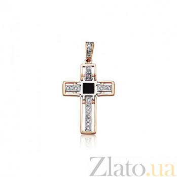 Декоративный крестик Магия с агатом и фианитами EDM--КР0135