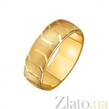 Золотое обручальное кольцо Образ с наческой TRF--431728