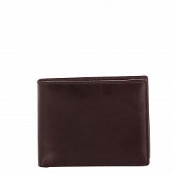 Кожаный кошелек-книжка Genuine Leather gf12 красно-коричневого цвета с разноформатными отделениями
