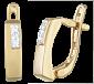 Позолоченные серебряные серьги с цирконием Пекин SLX--С3Ф/067