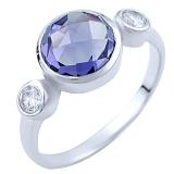 Серебряное кольцо Сумати с александритом и цирконием