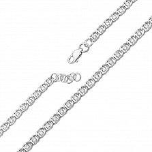 Серебряный браслет Мирена с белым цирконием, 4,5мм
