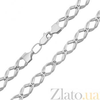 Серебряная цепь Мальта в плетении ромб, 5мм 000078660