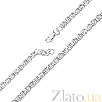 Серебряный браслет Мирена с белым цирконием, 4,5мм 000039237