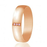 Золотое обручальное кольцо с фианитами Мадрид
