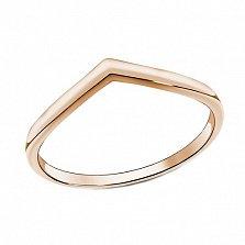 Серебряное кольцо Мирта на фалангу в позолоте