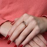 Кольцо в красном золоте Аверс с раухтопазом и фианитами