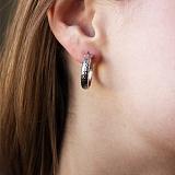 Серебряные серьги-конго Альцест, 2,5см