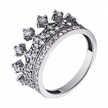 Золотое кольцо с кристаллами циркония Корона