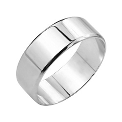 Серебряное обручальноекольцо Эдем