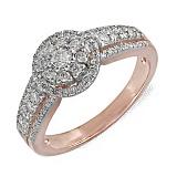 Золотое кольцо Франческа с бриллиантами