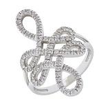 Серебряное кольцо Перган с фианитами