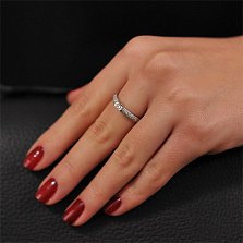 Кольцо из белого золота Снежная королева с бриллиантами