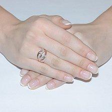 Золотое кольцо Аделайн с фианитами