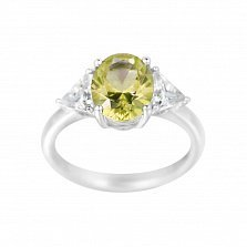 Серебряное кольцо Полина с фианитами