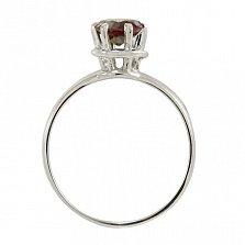 Серебряное кольцо Мелани с синтезированным александритом