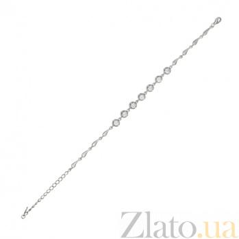 Серебряный браслет с цирконием Антуанетта 000027962