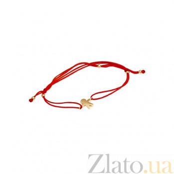 Браслет из красного золота и красной нити Мальчик 000081298