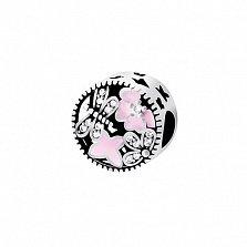 Серебряный подвес-шарм Цветущий луг с финитами