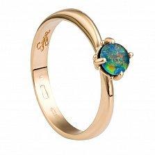 Золотое кольцо Полианна с опалом