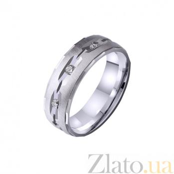 Золотое обручальное кольцо Объятия любви с фианитами TRF--4221134