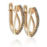 Золотые серьги с бриллиантами Барбара