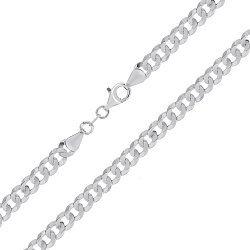 Серебряная цепочка с родированием, 6 мм 000027407