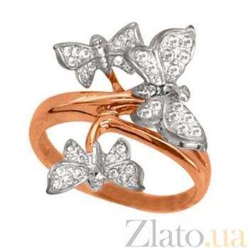 Золотое кольцо Бабочки с фианитами VLT--Е1472