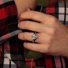 Серебряное кольцо Ванесса с фианитами