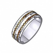 Золотое обручальное кольцо Нежная мелодия сердца