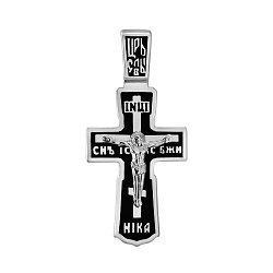 Серебряный крестик с эмалью 000140561