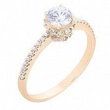 Золотое кольцо с фианитами Истинная любовь