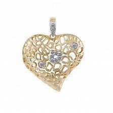 Кулон из золота с бриллиантами Праздник в жизни