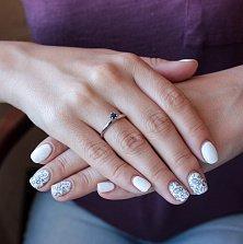 Золотое кольцо Алеана с сапфиром