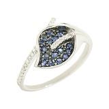 Золотое кольцо с сапфирами и бриллиантами Ленора
