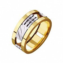 Золотое обручальное кольцо Любовная игра