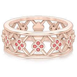 Кольцо Восторг: Нектар Жизни с розовыми сапфирами 000010548
