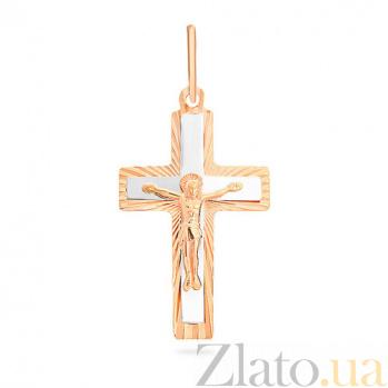 Золотой крестик Древний символ SUF--521113н