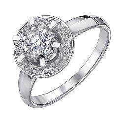 Кольцо из белого золота с бриллиантами 000147555