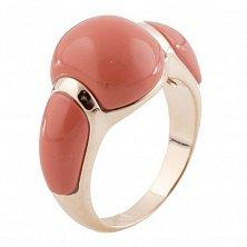 Серебряное кольцо Мадам с красными кораллами