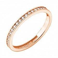 Золотое кольцо из красного золота Венчальное