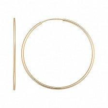Серьги-кольца Констанция в красном золоте